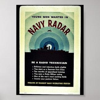 Radar de la marina de guerra poster