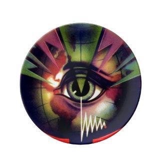 Radar Eye Sci Fi Eyeball ICU Hospital Nurse Doctor Plate