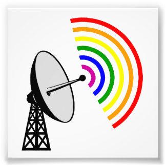 Radar gay del arco iris LGBT de Gaydar Impresiones Fotográficas