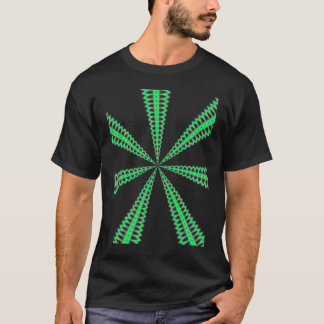 Radar green pattern graphic design digital design T-Shirt