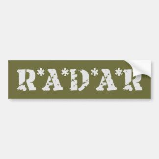 Radar Pegatina Para Auto