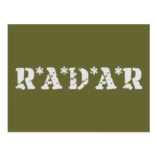 Radar Postcard