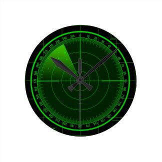 Radar que busca el reloj de pared de la pantalla