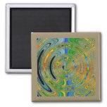 Radar Rings Square Magnet