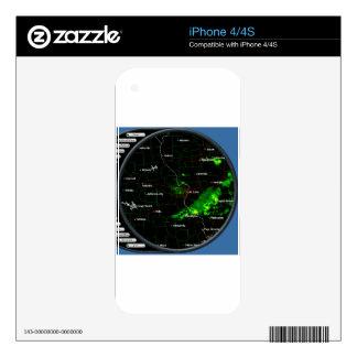 radar screen iPhone 4 skins