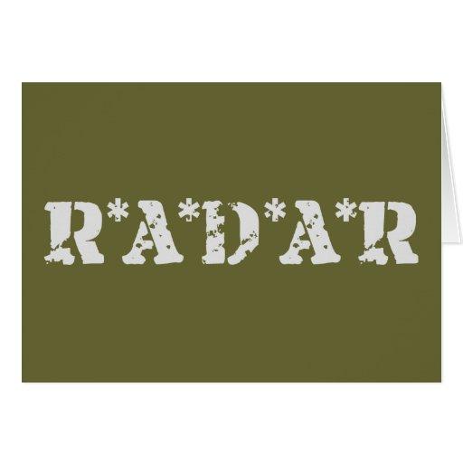 Radar Tarjeta De Felicitación