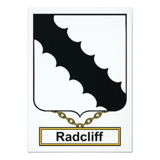 "Radcliff Family Crest 4.5"" X 6.25"" Invitation Card"
