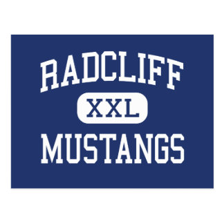 Radcliff Mustangs Middle School Dayton Ohio Postcard