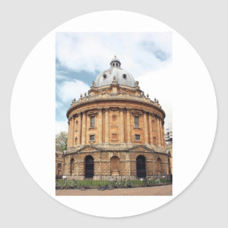Radcliffe, cámara, biblioteca de Bodleian, Oxford Pegatina Redonda
