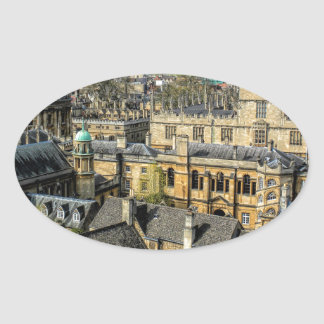 Radcliffe Camera and Bodleian Library Oxford Oval Sticker