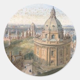 Radcliffe Camera Oxford by William Leighton Leitch Classic Round Sticker