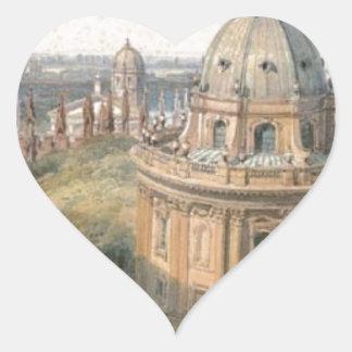 Radcliffe Camera Oxford by William Leighton Leitch Heart Sticker