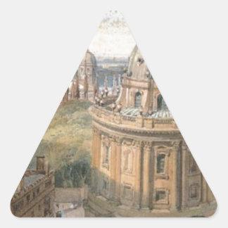 Radcliffe Camera Oxford by William Leighton Leitch Triangle Sticker