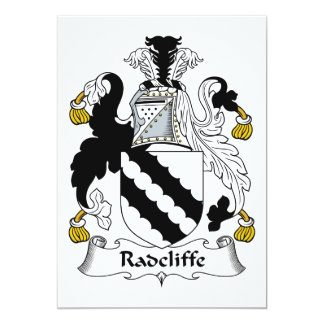 "Radcliffe Family Crest 5"" X 7"" Invitation Card"