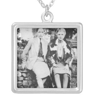 Radclyffe Hall and Una Vincenzo Square Pendant Necklace