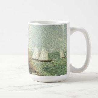 Rade de Grandcamp by Georges Seurat, Vintage Art Coffee Mug