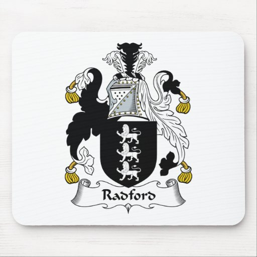 Radford Family Crest Mouse Pads