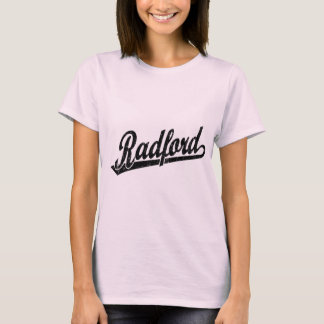 Radford script logo in black distressed T-Shirt