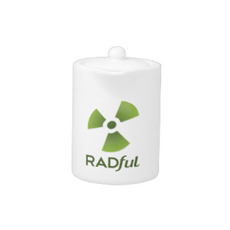 Radful apiló la tetera del logotipo