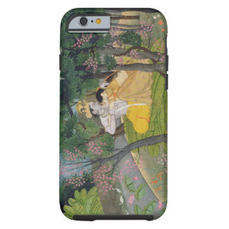 Radha and Krishna embrace in a grove of flowering Tough iPhone 6 Case