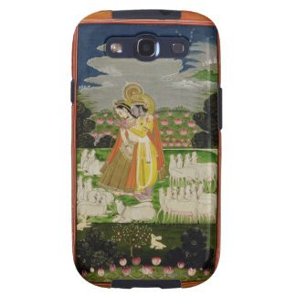 Radha and Krishna embrace in an idealised landscap Galaxy SIII Case