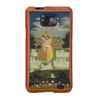 Radha and Krishna embrace in an idealised landscap Samsung Galaxy SII Covers