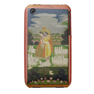 Radha and Krishna embrace in an idealised landscap iPhone 3 Case-Mate Case