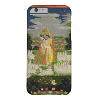 Radha and Krishna embrace in an idealised landscap Barely There iPhone 6 Case