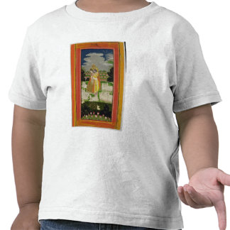 Radha and Krishna embrace in an idealised landscap Tees