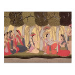 Radha and Krishna seated in a grove, Kulu Postcard