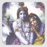 Radha and Krishna Square Sticker
