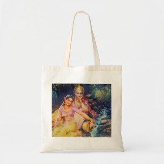 Radha and Krishna tote bag