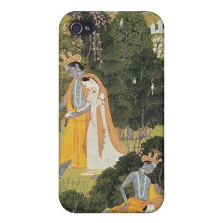 Radha and Krishna walking in a grove iPhone 4 Case