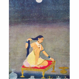 Radha At Night. Mughal Painting Ca 1650Th By Indis Photo Statuette