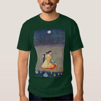 Radha At Night. Mughal Painting Ca 1650Th By Indis Tee Shirt