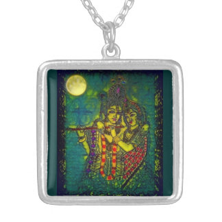 Radha Krishna1 Square Necklace