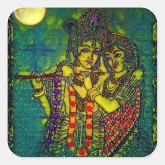 Radha Krishna1 Square Sticker