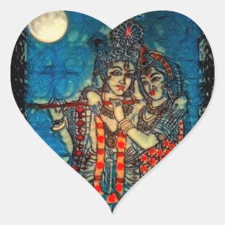 Radha Krishna2 Heart Sticker