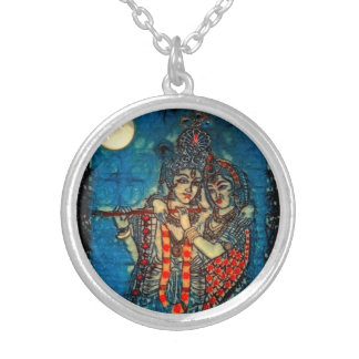 Radha Krishna2 Round Necklace