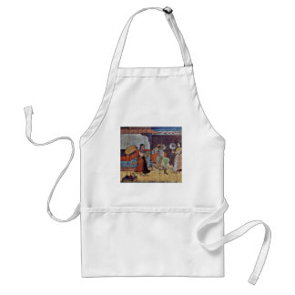 Radha Krishna And Their Trusted Friend By Meister Adult Apron