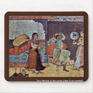 Radha Krishna And Their Trusted Friend By Meister Mouse Pad