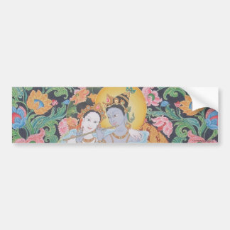 Radha-Krishna Bumper Sticker Car Bumper Sticker