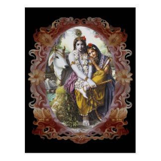 Radha Krishna Divine Couple Postcards