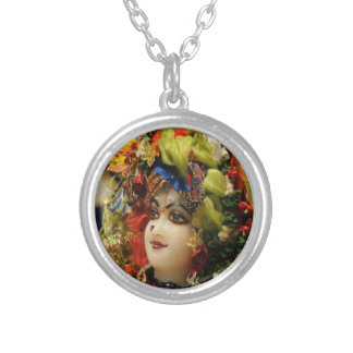 Radha KRISHNA  for Love, Peace n Prosperity Silver Plated Necklace