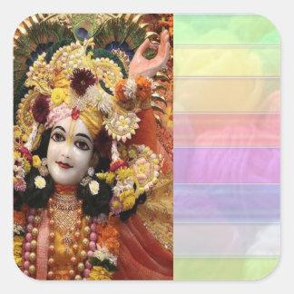 RADHA Krishna - in my Heart Collection Square Sticker