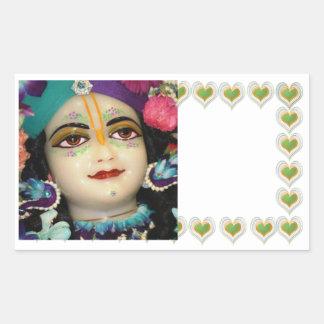 RADHA Krishna - in my Heart Collection Rectangular Sticker
