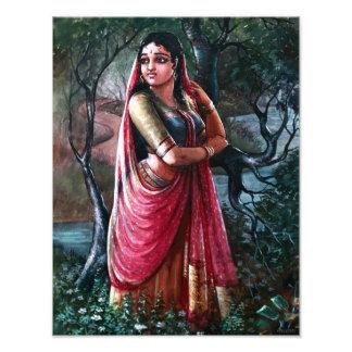 Radha Krishna Indian Painting Art Photo