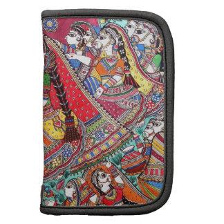 RADHA-KRISHNA MADHUBANI ANCIENT INDIAN ART STYLE FOLIO PLANNER