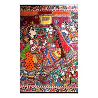 RADHA-KRISHNA MADHUBANI ANCIENT INDIAN ART STYLE STATIONERY