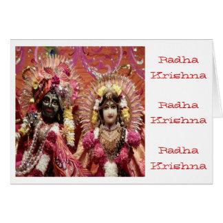Radha KRISHNA para el amor, prosperidad de la paz Tarjeta De Felicitación